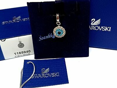 Swarovski Evil Eye Cream Ancient Tribal Symbol Clear Crystals MIB - 1185940