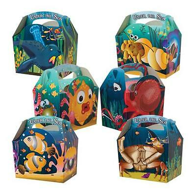 Children's Kids Under The Sea Birthday Party Box Carry Meal Boxes