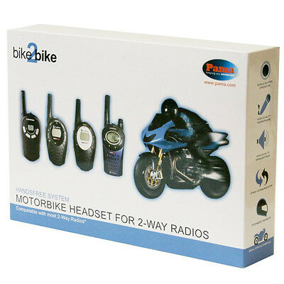 New Pama Motorbike Full Face Helmet Speaker And Microphone System For Pmr Radio