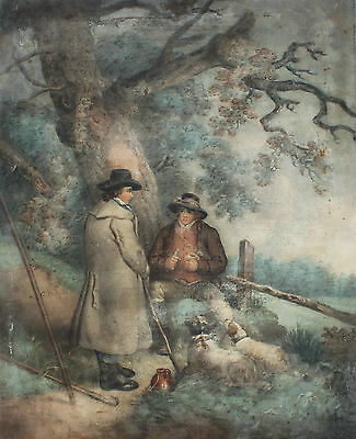 18th Century Coloured Engraving After George Morland