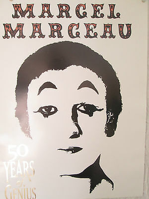 Marcel Marceau Poster 50 Years Of Genius