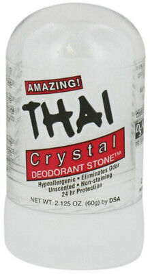 Thai Deodorant Stone Hypoallergenic Unscented Crystal Mini Stick - 2.125 Oz