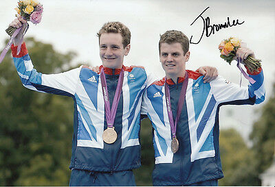 Jonathan Brownlee Hand Signed 12x8 Photo London Olympics 2012 Bronze Medalist.
