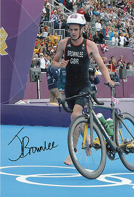 Jonathan Brownlee Hand Signed 12x8 Photo London Olympics 2012 Bronze Medalist 2.