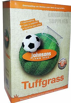 Johnsons Tuffgrass Tough Grass Lawn Seed 1.5Kg / Covers 60 Sqm