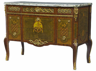 20TH CENTURY FRENCH INFLUENCED CHEST OF DRAWERS COMMODE