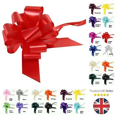 Large 50mm Pull Bows Weddings Party Floristry Wrap Ribbon  Many Colours ML