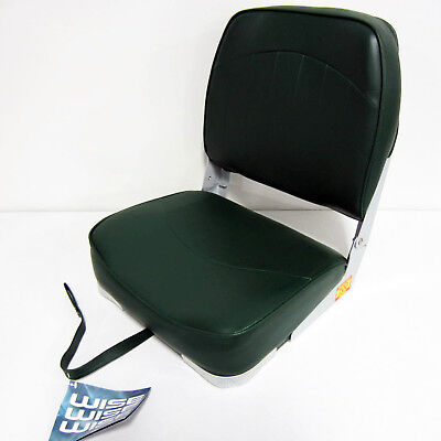 Wise New Fishing Boat Seat Chair Green Composite Base/Bottom Fold Down