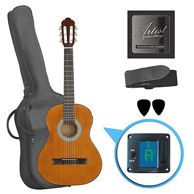 Artist CL34AML Left Handed 3/4 Classical Nylon String Guitar Pack - New