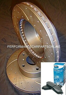 DRILLED SLOTTED & BENDIX PADS Ford Territory REAR Disc Brake Rotors & Pads NEW