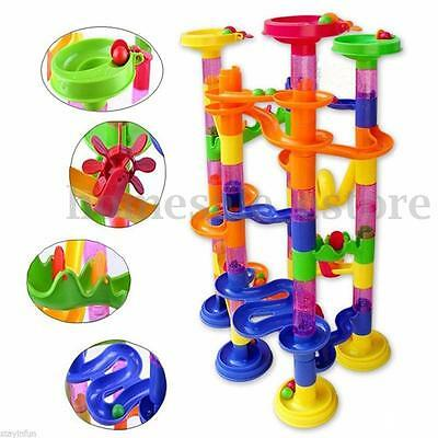 58Pcs DIY Building Blocks Track Run Race Tower Marble Ball Construction Toys