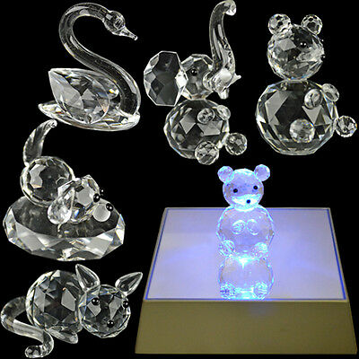 Crystal Figurine Collection Elements Glass Figurines Gift Ornament New Box