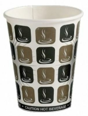 100 X Cafe Mocha 8oz Paper Cup Disposable Paper Coffee Tea