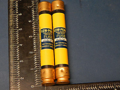 Lot of 2 Bussmann LPS-RK-7SP Low-Peak Fuses Time Delay 7Amp 600VAC LPSRK7SP