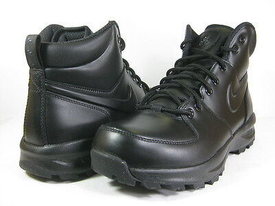 NIKE MANOA LEATHER BLACK/BLACK -454350 003- MENS ATHLETIC  BOOTS