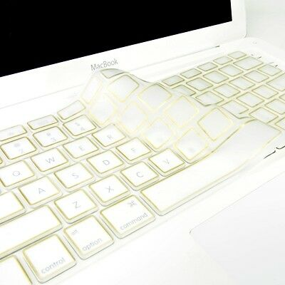 """Maclife Metallic Gold Silicone Keyboard Cover for All Macbook 13"""" 15"""" 17"""""""
