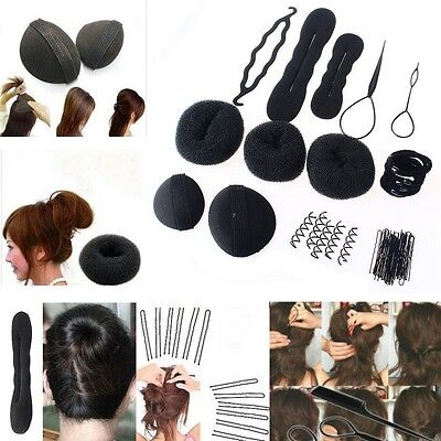 Hair Styling Accessory Magic Clip Maker Tools Pads Foam Sponge Bun Donut Hairpin