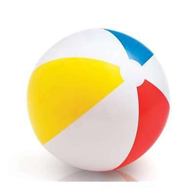 """24"""" GLOSSY INFLATABLE BEACH BALL TOY SUMMER SEA SWIMMING PADDLING POOL TY4336"""