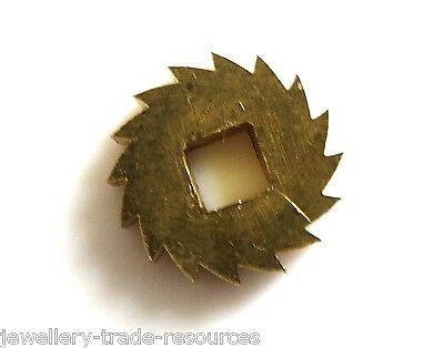 10mm Diameter REPLACEMENT BRASS CLOCK WINDING RATCHET WHEEL SPARES REPAIRS PARTS