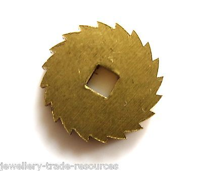 14mm Diameter REPLACEMENT BRASS CLOCK WINDING RATCHET WHEEL SPARES REPAIRS PARTS