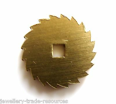 18mm Diameter REPLACEMENT BRASS CLOCK WINDING RATCHET WHEEL SPARES REPAIRS PARTS