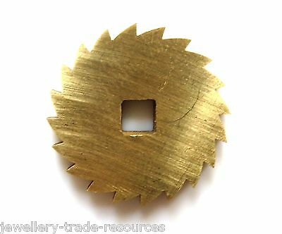 22mm Diameter REPLACEMENT BRASS CLOCK WINDING RATCHET WHEEL SPARES REPAIRS PARTS
