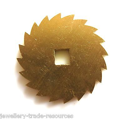 24mm Diameter REPLACEMENT BRASS CLOCK WINDING RATCHET WHEEL SPARES REPAIRS PARTS