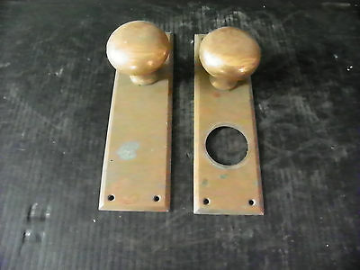 Antique Heavy Brass Plates Markes 4436 With Knobs  6289