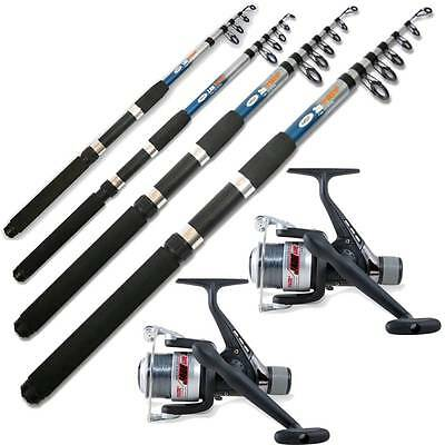 2 Telescopic  Ngt Fishing Rods And 2 Fishing Reels 6Ft 8Ft 10Ft 12Ft Travel Set