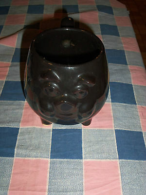 Harley Davidson Black Hog Mug  3 1/2 Inch High  Note Circle Surface