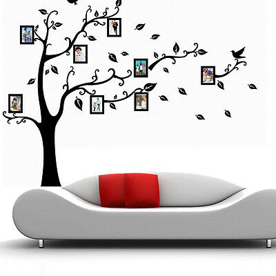 Family Picture Photo Frame Tree Quote Wall Home Stickers Vinyl Decor Decals NEW