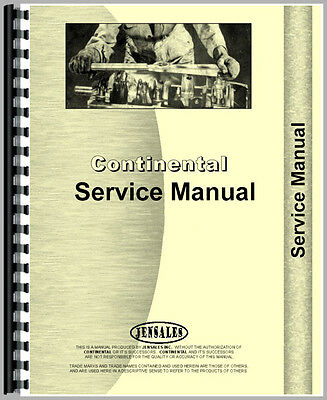 New Continental Engines Y112 Engine Service Manual