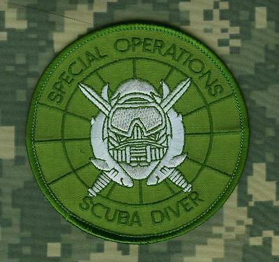 Killer Elite Ghost Recon Special Operations Ssi Patch: Combat Scuba Diver