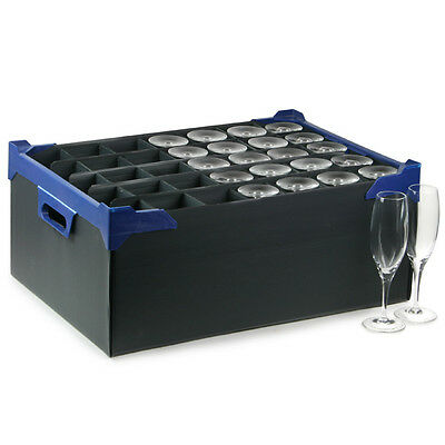 Stacking Glass Storage Boxes | 35 Small Compartment - Set of 5