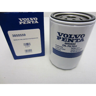Volvo Penta New OEM Remote Oil Filter 3850559 4.3L, 5.0L, 5.7L, 7.4L, 8.2L