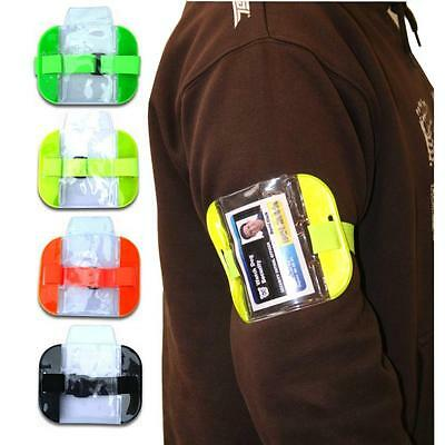Protec PWC7 Yellow High vis security armband ID holder SIA