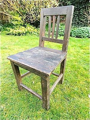 Lovely Antique Shabby Chic Folk Art Handmade Wooden Childs Chair Rustic Chair C2 • £33.99