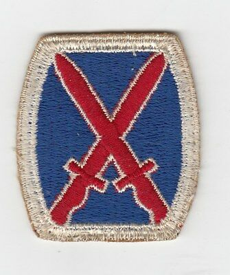 Us Army Patch - 10Th Mountain Division - Original - Wwii