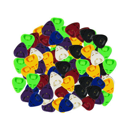 Pack of Alice 50pcs Colorful Guitar Picks Holders Plectrum Case Mixed Color