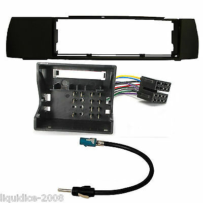 Bmw X3 E83 2004 - 2010 Blk Single Din Facia Adapter Fitting Package Kit Ct24Bm07