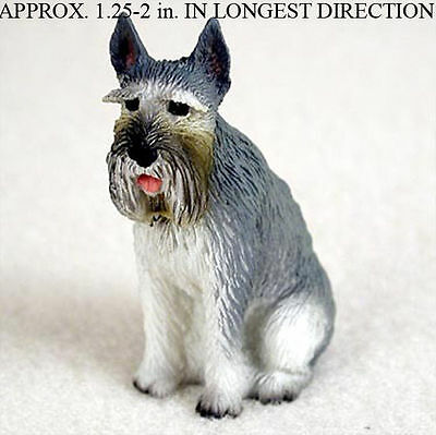 Schnauzer Mini Resin Hand Painted Dog Figurine Giant Gray