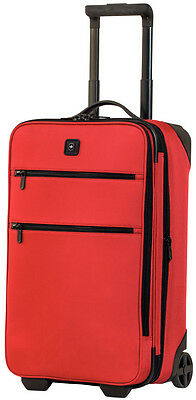 "Victorinox Lexicon 22"" Expandable 2 Wheel U.S. Upright Carry On Luggage - Red"