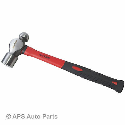 32oz New Ball Pein Hammer Fibreglass Shaft Drop Forged Heat Treated