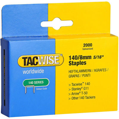Tacwise 0346 140/8mm Type 140 Series pk of 2000