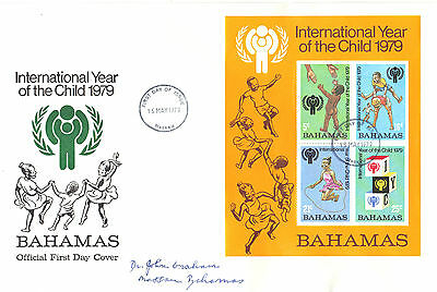 BAHAMAS 1979 Year of CHILD Stamp MINI SHEET First Day Cover Re:CW191