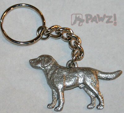 LABRADOR RETRIEVER Lab Dog Fine Pewter Keychain Key Chain Ring