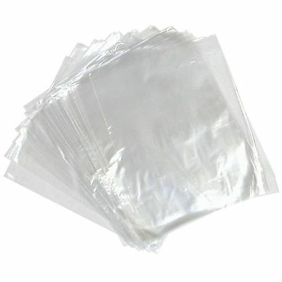 1000  Polythene Clear Plastic Food Safe Storage Bags 100 Gauge  Multiple Sizes