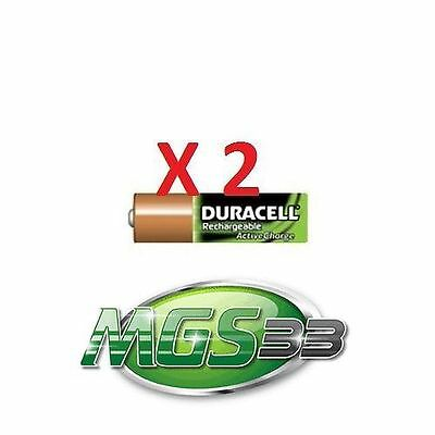 PACK 2 PILES RECHARGEABLE DURACELL PILES ACTIVE AA 2000 Mah TYPE HR06/RX06