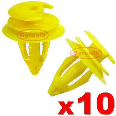 BMW FRONT DOOR PANEL CARD TRIM CLIPS INTERIOR E39 5 series YELLOW AS GENUINE