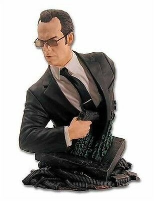 "Matrix Reloaded Agent Smith collectible mini-bust 6"" tall brand new Gentle Giant"